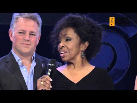 Gladys Knight collects her International Award at the O2 Silver Clef Awards
