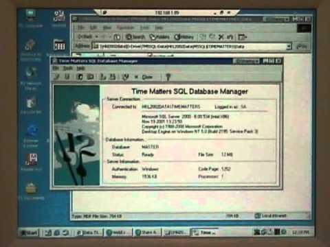 Time Matters SQL Database Transfer