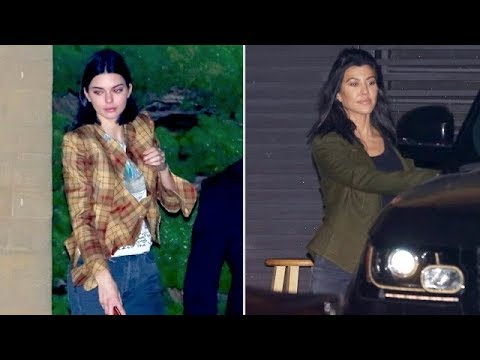 Kendall Jenner Parties With Sister Kourtney To Celebrate Kylie's New Baby