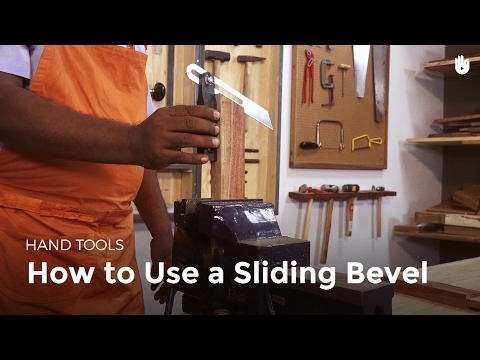 How to Use a Sliding Bevel | Woodworking