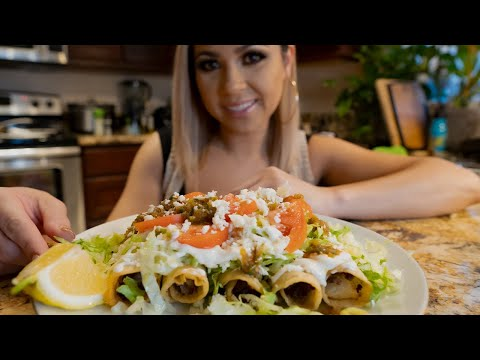 GROUND BEEF AND POTATO FLAUTAS (ROLLED TACOS)
