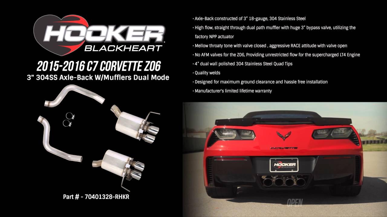 2015-16 C7 Corvette ZO6 Hooker BlackHeart Axle-Back Exhaust Dual Mode