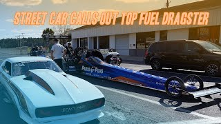 Fastest Street Car In The World Calls Out A Top Fuel Dragster