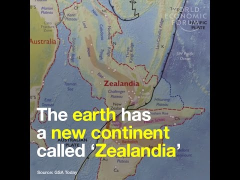 The earth has a new continent called 'Zealandia'