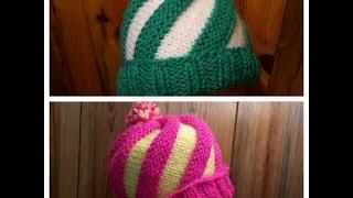 Un bonnet original, et confortable à 2 aiguilles droites. Pour la b...