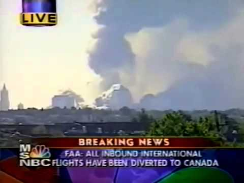 "9/11: WTC Tower 1 ""Collapse"" M$NBC Live"