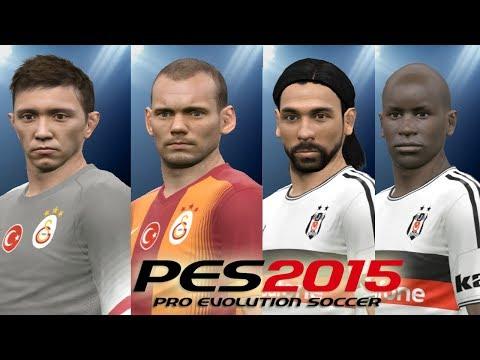 PES 2015 Türk Takımları Oyuncu Yüzleri İncelemesi (2014)