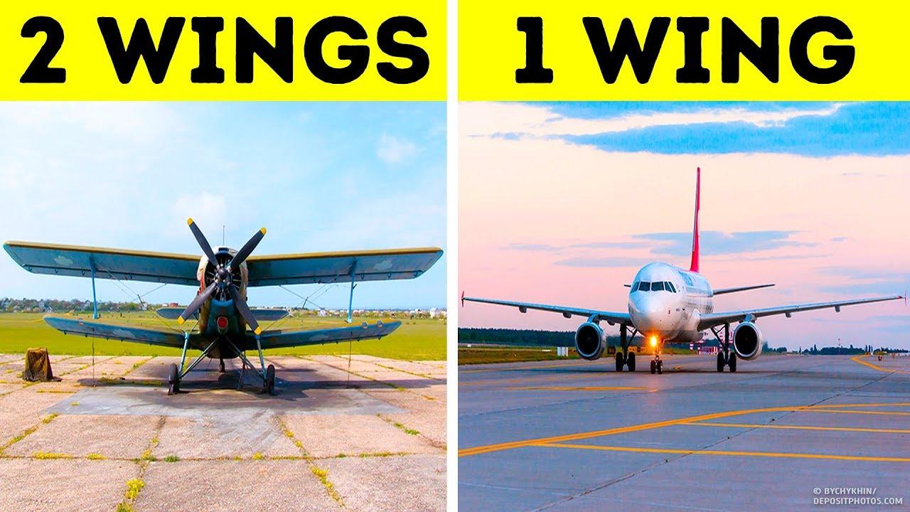 Alle Flugzeuge haben tatsächlich nur einen Flügel + video