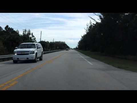 Tamiami Trail (US 41 from Naples to Miami) eastbound (Part 1/9)