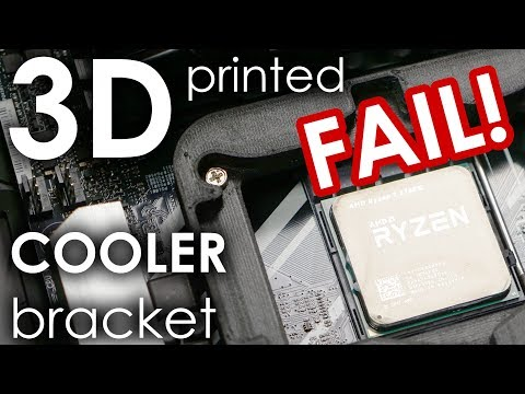 I almost fried my new CPU because I overestimated my 3D print.