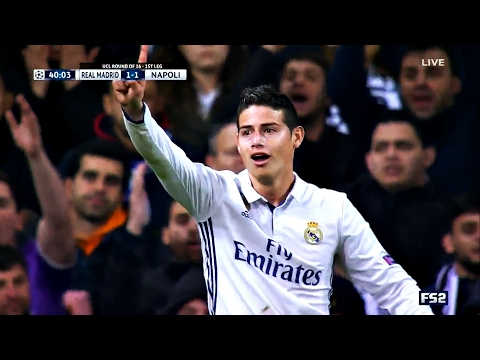 James Rodriguez vs Napoli HD 720p (UCL) 15/02/2017