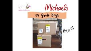 HUGE $4 Michael's Grab Bags Box 1 of 5. This box had $245 alone!
