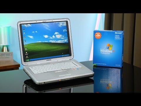 Using Compaq's Huge Pentium 4 Laptop from 2004!