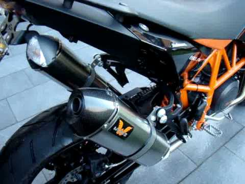 KTM 690 SMR with WINGS exhausts