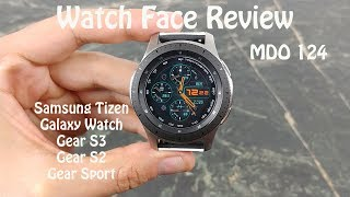Watch Face Review : MDO 124 Samsung Galaxy Watch Gear S3 Gear S2 Gear Sport