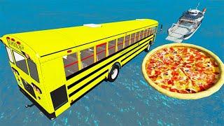 Beamng drive - Random Car Jumping Into A Pizza #4   BeamNG-Destruction