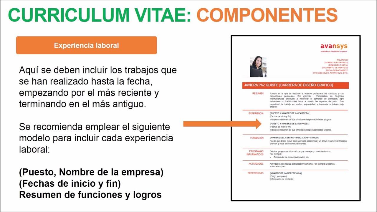 Video 13 - Tips para elaborar tu Curriculum Vitae - YouTube