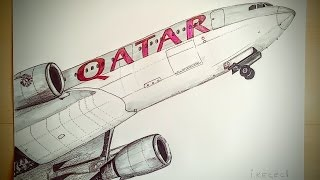 Airbus A320-202 Drawing Timelapse