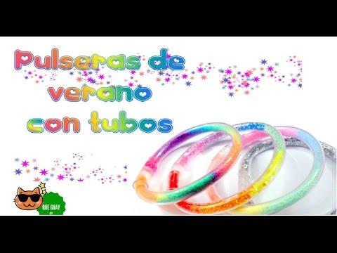 ♥ Haz pulseras de verano con TUBOS DE PLÁSTICO ♥ super lindas en4 estilos!!! Fáciles..