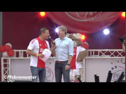 oud-Ajacieden  Cristian Chivu & Stefan Pettersson eregasten Bij De Open Dag van Ajax