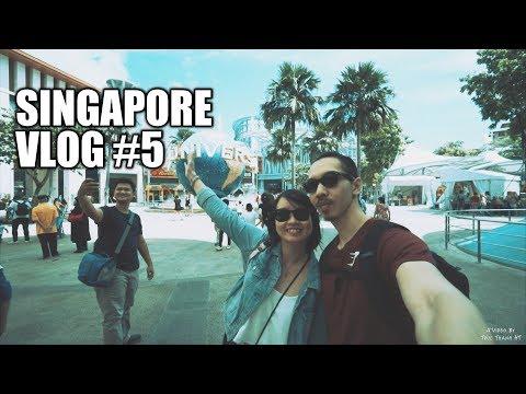 Đi Universal Studios, Merlion Sentosa, Tiger Sky Tower và Trick Eye Museum   Singapore Vlog #5