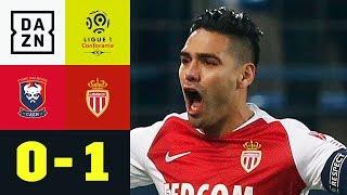 Dank Radamel Falcao: Erster Sieg für Thierry Henry: Caen - Monaco 0:1 | Ligue 1 | DAZN Highlights