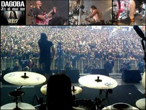 Dagoba hellfest it s all about time drumcam multiangle