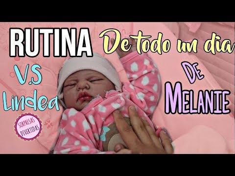 RUTINA DE MELANIE V.S LINDEA!! BEBÉS REBORN CON SORPRESAS DIVERTIDAS!!
