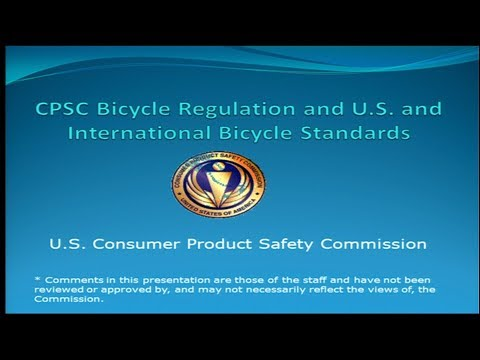 CPSC Bicycle Regulation and U.S. and International Bicycle Standards