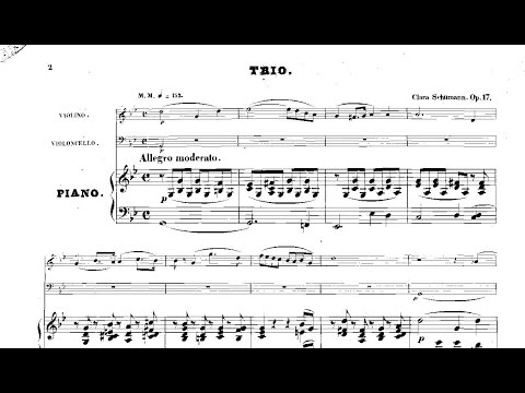 Clara Schumann: Piano Trio Op. 17 (1846)