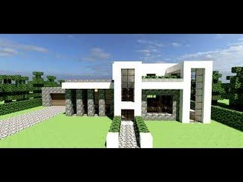 Casa moderna minecraft by em4739944 youtube for Casas modernas minecraft 0 10 0