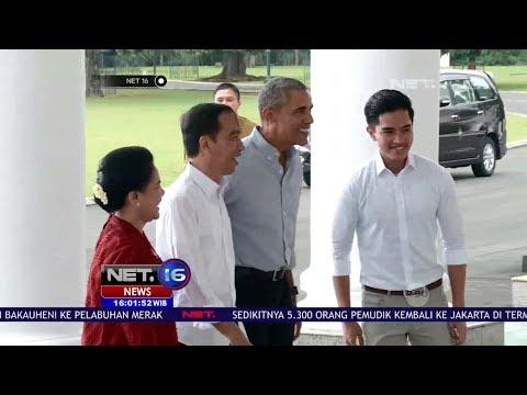 Kunjungan Obama di Istana Bogor Disambut Presiden Jokowi & Keluarga - Net 16