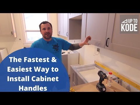 The Fastest & Easiest Way To Install Cabinet Handles