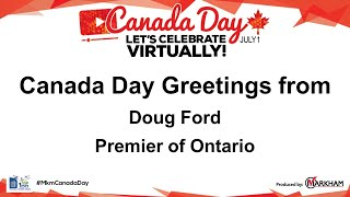 Canada Day Greetings - Ontario Premier – Doug Ford