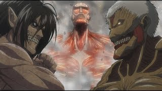 Attack on Titan Season 2 OST - YouSeeBIGGIRL/T:T - Reiner Bertholdt Titan Transformation HD
