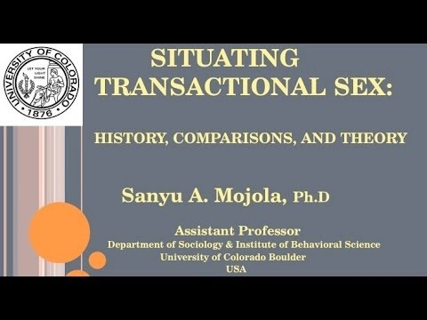 Learning Lab 25: Situating transactional sex - Comparisons, history and theory