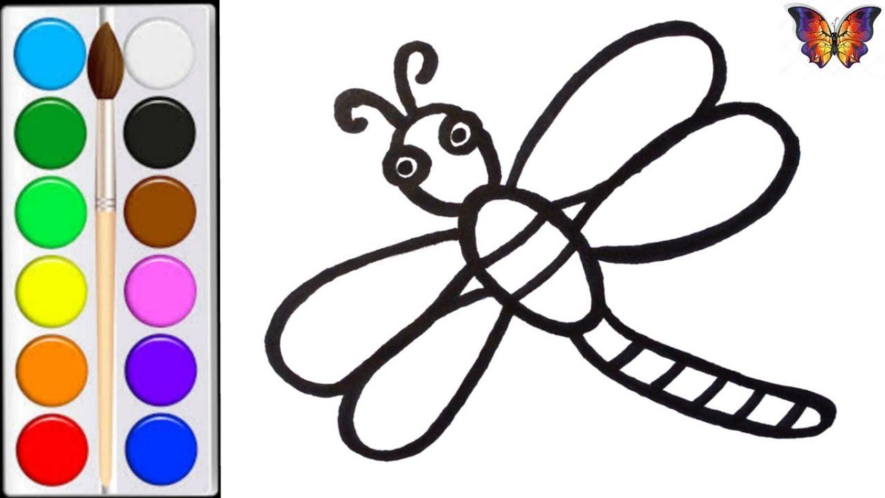 Как нарисовать СТРЕКОЗУ / мультик раскраска СТРЕКОЗА для ...
