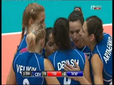 volleyball Israel vs Spain Shany Peham setter #6