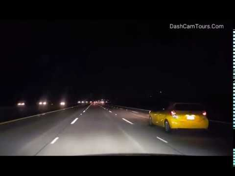 Night Freeway Driving. Oceanside, San Diego County to Los Angeles CA. DashCam No music. No Talking