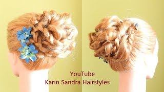 Hairdo with a braid | Easy hairstyle | Updo hair style | Updo with a braid | Bridal hairstyle