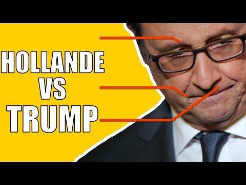 HOLLANDE VS TRUMP - Ce que dit son visage pendant le discours -