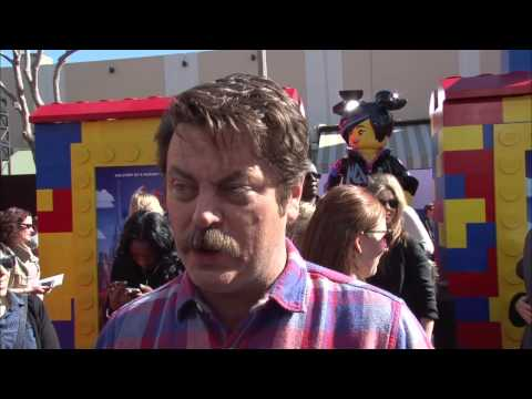 "The Lego Movie: Nick Offerman ""Metal Beard"" Movie Premiere Interview"