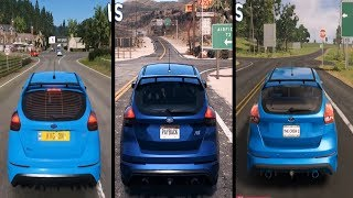 Forza Horizon 4 vs The Crew 2 vs NFS: Payback - Ford Focus RS Gameplay Comparison HD