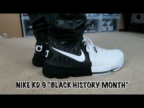 "NIKE KD 9 BHM ""BLACK HISTORY MONTH"" ON FEET - YouTube"