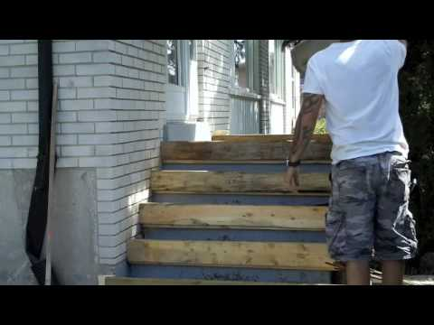 How to pour concrete porch and step - YouTube