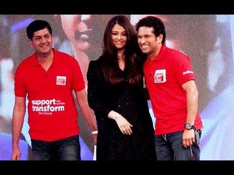 Aishwarya & Sachin At 'Support My School' Telethon