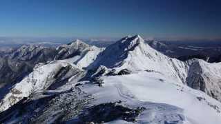 間ノ岳頂上からの雪景色 2013年12月30日