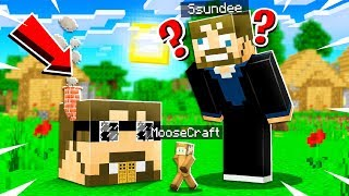 I Turned My FRIENDS SSUNDEE HOUSE Into A TINY HOUSE in MINECRAFT!