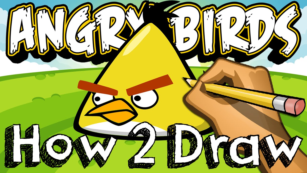 How To Draw Chuck The Yellow Bird From Angry Birds