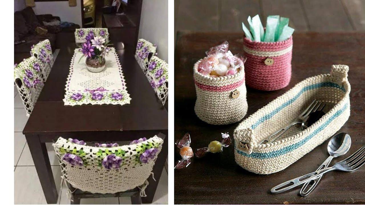 Art culos para el hogar tejidos a crochet n 06 youtube for Accesorios decorativos para el hogar